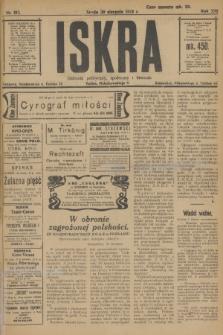 Iskra : dziennik polityczny, społeczny i literacki. R.13, nr 192 (30 sierpnia 1922)