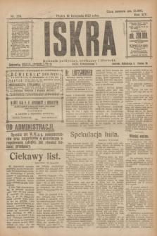 Iskra : dziennik polityczny, społeczny i literacki. R.14, nr 258 (16 listopada 1923)