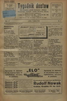 Tygodnik dostaw : pismo poświęcone polskiemu dostawnictwu i odbudowie. R.15, nr 9 (1 marca 1923)