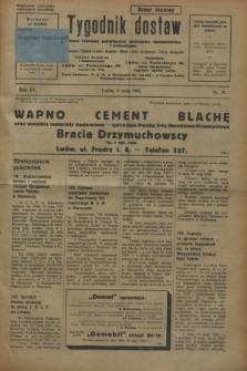 Tygodnik dostaw : pismo fachowe poświęcone polskiemu dostawnictwu i odbudowie. R.15, nr 18 (8 maja 1923)