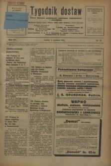 Tygodnik dostaw : pismo fachowe poświęcone polskiemu dostawnictwu i odbudowie. R.15, nr 21 (2 czerwca 1923)
