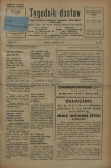 Tygodnik dostaw : pismo fachowe poświęcone polskiemu dostawnictwu i odbudowie. R.15, nr 22 (9 czerwca 1923)