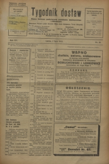 Tygodnik dostaw : pismo fachowe poświęcone polskiemu dostawnictwu i odbudowie. R.15, nr 25 (2 lipca 1923)