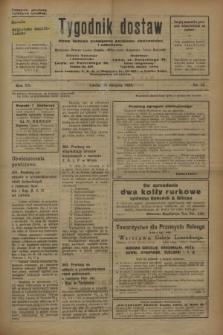 Tygodnik dostaw : pismo fachowe poświęcone polskiemu dostawnictwu i odbudowie. R.15, nr 32 (25 sierpnia 1923)