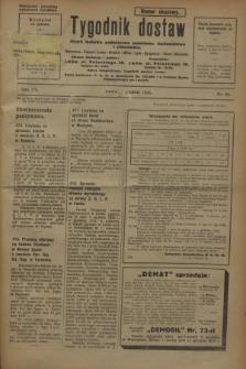 Tygodnik dostaw : pismo fachowe poświęcone polskiemu dostawnictwu i odbudowie. R.15, nr 44 (4 grudnia 1923)