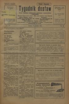 Tygodnik dostaw : pismo fachowe poświęcone polskiemu dostawnictwu i odbudowie. R.15, nr 45 (15 grudnia 1923)