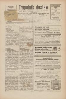 Tygodnik dostaw : pismo fachowe poświęcone polskiemu dostawnictwu i odbudowie. R.16, nr 22 (4 lipca1924)