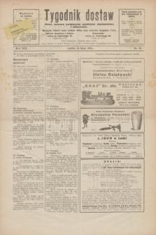 Tygodnik dostaw : pismo fachowe poświęcone polskiemu dostawnictwu i odbudowie. R.16, nr 25 (26 lipca 1924)