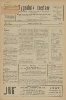 Tygodnik dostaw : pismo fachowe poświęcone polskiemu dostawnictwu i odbudowie. R.17, nr 4 (27 stycznia 1925)