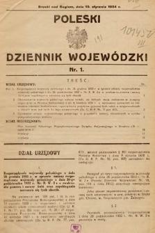 Poleski Dziennik Wojewódzki. 1934, nr1