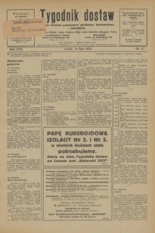 Tygodnik dostaw : pismo fachowe poświęcone polskiemu dostawnictwu i odbudowie. R.17, nr 27 (16 lipca 1925)