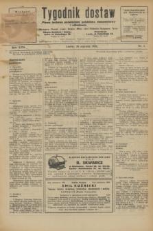 Tygodnik dostaw : pismo fachowe poświęcone polskiemu dostawnictwu i odbudowie. R.18, nr 3 (28 stycznia 1926)