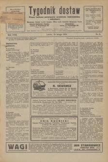 Tygodnik dostaw : pismo fachowe poświęcone polskiemu dostawnictwu i odbudowie. R.18, nr 6 (26 lutego 1926)