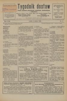 Tygodnik dostaw : pismo fachowe poświęcone polskiemu dostawnictwu i odbudowie. R.18, nr 7 (6 marca 1926)