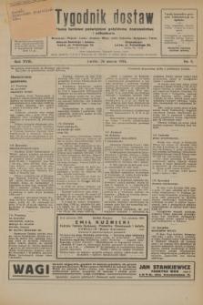 Tygodnik dostaw : pismo fachowe poświęcone polskiemu dostawnictwu i odbudowie. R.18, nr 9 (26 marca 1926)