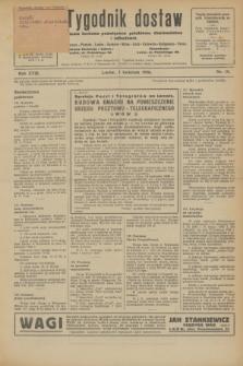 Tygodnik dostaw : pismo fachowe poświęcone polskiemu dostawnictwu i odbudowie. R.18, nr 10 (7 kwietnia 1926)