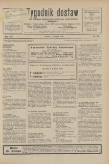 Tygodnik dostaw : pismo fachowe poświęcone polskiemu dostawnictwu i odbudowie. R.19, nr 14 (19 maja 1927)