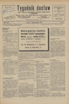 Tygodnik dostaw : pismo fachowe poświęcone polskiemu dostawnictwu i odbudowie. R.19, nr 28 (4 października 1927)