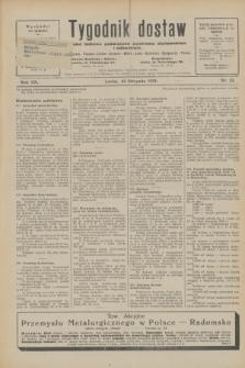 Tygodnik dostaw : pismo fachowe poświęcone polskiemu dostawnictwu i odbudowie. R.20, nr 33 (22 listopada 1928)