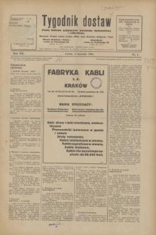 Tygodnik dostaw : pismo fachowe poświęcone polskiemu dostawnictwu i odbudowie. R.21, nr 1 (4 stycznia 1929)