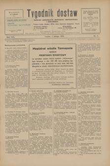 Tygodnik dostaw : pismo fachowe poświęcone polskiemu dostawnictwu i odbudowie. R.21, nr 4 (4 lutego 1929)
