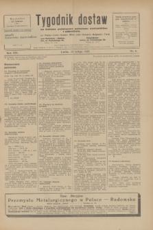 Tygodnik dostaw : pismo fachowe poświęcone polskiemu dostawnictwu i odbudowie. R.21, nr 6 (24 lutego 1929)
