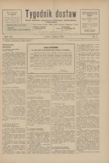 Tygodnik dostaw : pismo fachowe poświęcone polskiemu dostawnictwu i odbudowie. R.21, nr 7 (4 marca 1929)