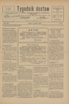 Tygodnik dostaw : pismo fachowe poświęcone polskiemu dostawnictwu i odbudowie. R.21, nr 8 (14 marca 1929)