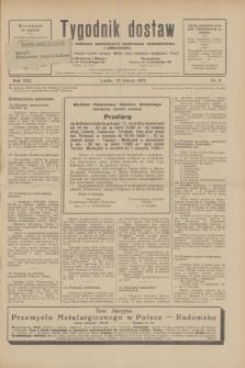 Tygodnik dostaw : pismo fachowe poświęcone polskiemu dostawnictwu i odbudowie. R.21, nr 9 (24 marca 1929)