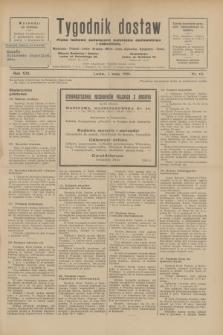 Tygodnik dostaw : pismo fachowe poświęcone polskiemu dostawnictwu i odbudowie. R.21, nr 13 (1 maja 1929)