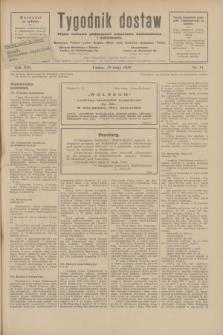 Tygodnik dostaw : pismo fachowe poświęcone polskiemu dostawnictwu i odbudowie. R.21, nr 14 (10 maja 1929)