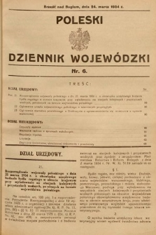 Poleski Dziennik Wojewódzki. 1934, nr6
