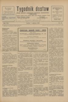 Tygodnik dostaw : pismo fachowe poświęcone polskiemu dostawnictwu i odbudowie. R.21, nr 16 (1 czerwca 1929)