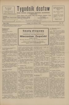 Tygodnik dostaw : pismo fachowe poświęcone polskiemu dostawnictwu i odbudowie. R.21, nr 17 (10 czerwca 1929)