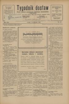 Tygodnik dostaw : pismo fachowe poświęcone polskiemu dostawnictwu i odbudowie. R.21, nr 23 (12 sierpnia 1929)