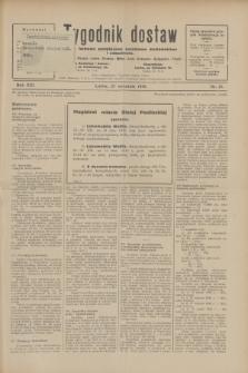 Tygodnik dostaw : pismo fachowe poświęcone polskiemu dostawnictwu i odbudowie. R.21, nr 27 (27 września 1929)