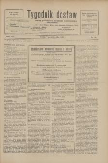 Tygodnik dostaw : pismo fachowe poświęcone polskiemu dostawnictwu i odbudowie. R.21, nr 28 (7 października 1929)