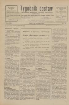 Tygodnik dostaw : pismo fachowe poświęcone polskiemu dostawnictwu i odbudowie. R.21, nr 33 (28 listopada 1929)