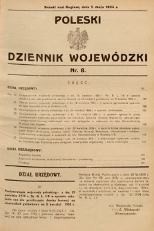 Poleski Dziennik Wojewódzki. 1934, nr8