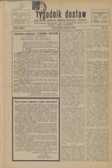 Tygodnik dostaw : pismo fachowe poświęcone polskiemu dostawnictwu i odbudowie. R.24, nr 4 (24 lutego 1932)