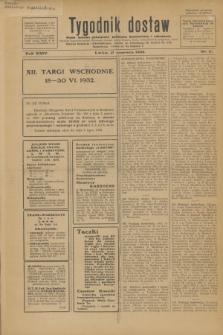 Tygodnik dostaw : pismo fachowe poświęcone polskiemu dostawnictwu i odbudowie. R.24, nr 11 (17 czerwca 1932)
