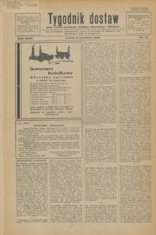 Tygodnik dostaw : pismo fachowe poświęcone polskiemu dostawnictwu i odbudowie. R.24, nr 16 (2 września 1932)