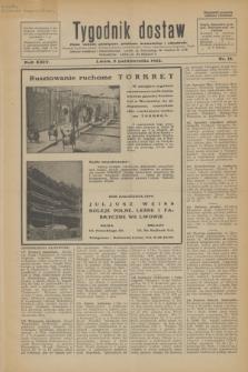 Tygodnik dostaw : pismo fachowe poświęcone polskiemu dostawnictwu i odbudowie. R.24, nr 18 (8 października 1932)