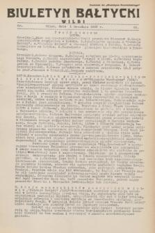 """Biuletyn Bałtycki Wilbi : dodatek do """"Biuletynu Kowieńskiego"""". 1932, nr 65 (1 września)"""