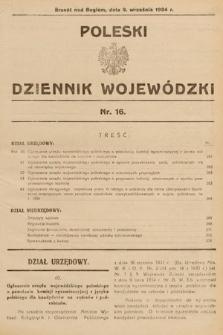 Poleski Dziennik Wojewódzki. 1934, nr16
