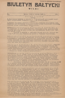 """Biuletyn Bałtycki Wilbi : dodatek do """"Biuletynu Kowieńskiego"""". 1935, nr 265 (9 lutego)"""