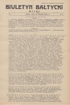 """Biuletyn Bałtycki Wilbi : dodatek do """"Biuletynu Kowieńskiego"""". 1935, nr 268 (21 lutego)"""