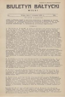 """Biuletyn Bałtycki Wilbi : dodatek do """"Biuletynu Kowieńskiego"""". 1935, nr 299 (1 sierpnia)"""