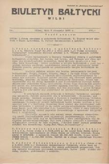 """Biuletyn Bałtycki Wilbi : dodatek do """"Biuletynu Kowieńskiego"""". 1935, nr 300 (2 sierpnia)"""