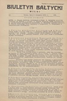 """Biuletyn Bałtycki Wilbi : dodatek do """"Biuletynu Kowieńskiego"""". 1935, nr 302 (5 sierpnia)"""